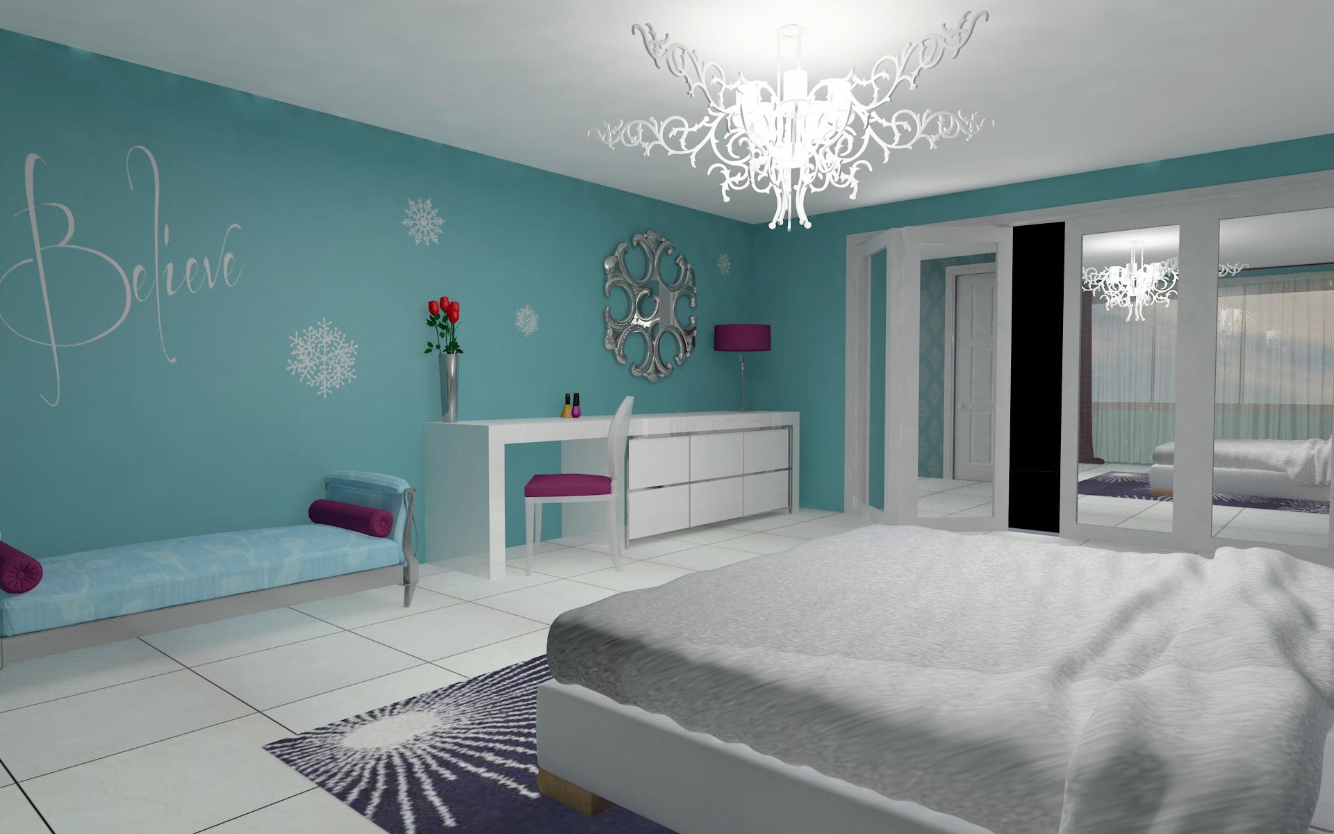 Frozen inspired bedroom -